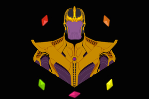 Thanos Infinity Stone Pop Art