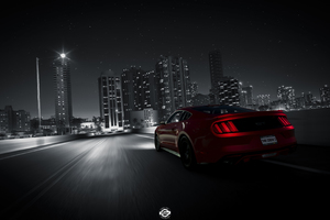 The Crew 2 Ford Mustang Rear Lights 4k Wallpaper