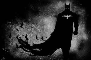 The Dark Knight Paint Wallpaper