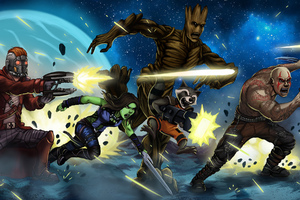 The Guardians Of The Galaxy Art Wallpaper