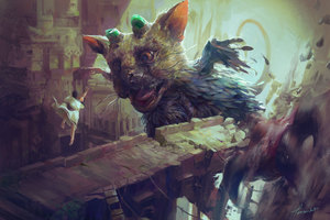 The Last Guardian Video Game Artwork
