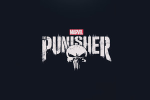 The Punisher 2017 HD Logo Wallpaper