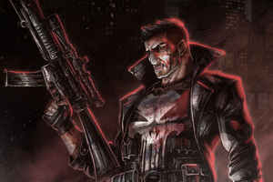 The Punisher 4k Art Wallpaper