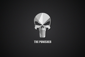 The Punisher Material Logo Wallpaper