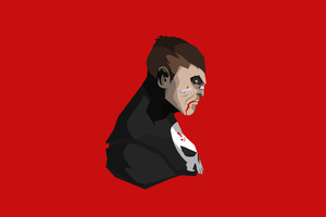 The Punisher Minimalism 4k