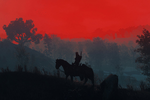 The Witcher 3 Geralt Silhouette Wallpaper