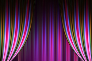 Theater Curtain Cinema Abstract Wallpaper