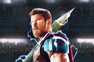 Thor God Of Thunder Artwork HD