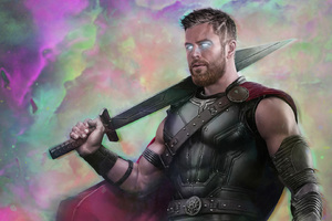 Thor Ragnarok Movie Art 2018 Wallpaper