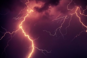 Thunderstorm Lightning Strike Wallpaper