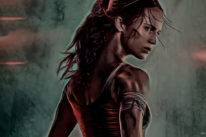 Tomb Raider 2018 Movie Alicia Vikander Artwork
