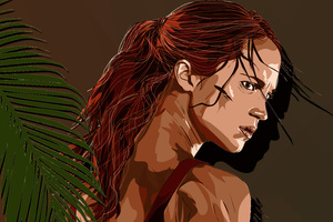 Tomb Raider Alicia Vikander Artwork 4k