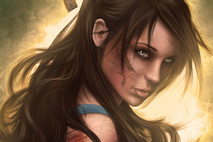 Tomb Raider Girl Brunette Hair Fantasy Artwork Wallpaper