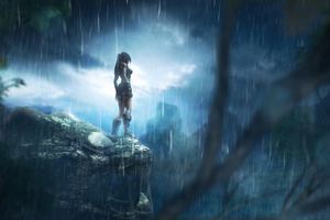 Tomb Raider Lara Croft Rain Game