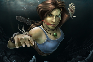 Tomb Raider Reborn Underwater Wallpaper