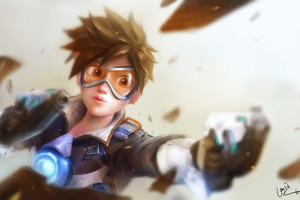 Tracer Overwatch Artwork 4k