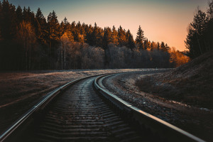 Train Rail 5k Wallpaper