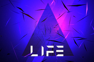 Triangle Abstract Life Typography 5k Wallpaper