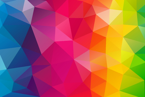 Triangles Colorful Background Wallpaper