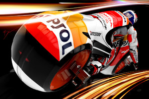 Tron Moto GP Wallpaper