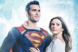 Tyler Hoechlin And Bitsie Tulloch In Supergirl Wallpaper