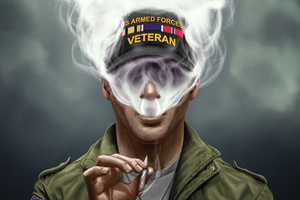 US Armed Force Smoking Cigarette Wallpaper