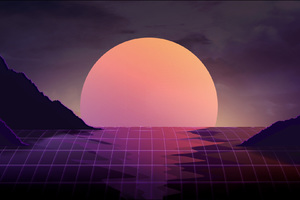 Vapor Wave Sunset 4k