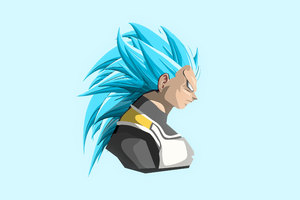Vegeta Dragon Ball Super 4k Art