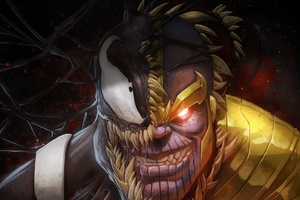 Venom And Thanos Crossover