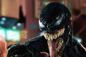 Venom Face Closeup Artwork Wallpaper