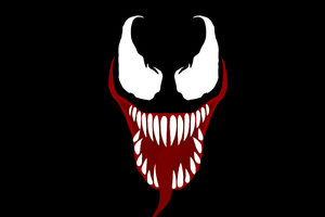 Venom Movie Face Wallpaper