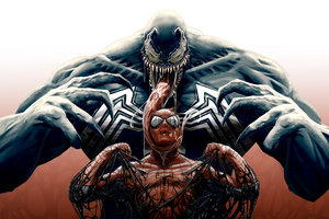 Venom Spiderman Cool Artwork 4k Wallpaper