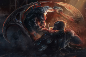 Venom Vs Riot Wallpaper