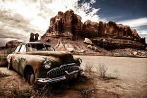 Vintage Dusty Car