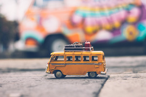 Vintage Volkswagen Van Toy Wallpaper