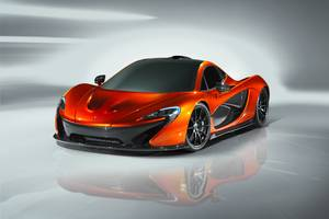 Volcano Orange McLaren P1 Wallpaper