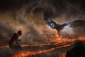 Vulture And Spiderman Homecoming 5k Artwork Wallpaper