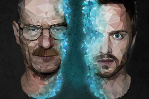 Walter White And Jesse Pinkman Breaking Bad 4k Low Poly Wallpaper