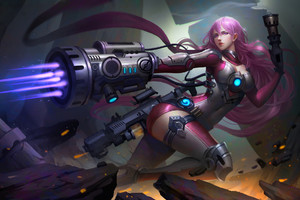 Warrior Fantasy Girl Futuristic Wallpaper