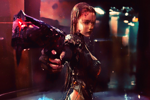 Warrior Girl Cyberpunk Futuristic Artwork Wallpaper