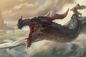Warrior Riding Dragon