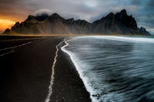 Water Iceland Coast 4k Wallpaper