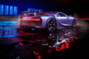 Wet Bugatti Chiron Wallpaper