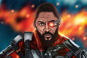 Will Smith Deadshot Artwork 4k Wallpaper