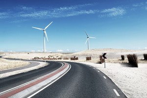 Wind Turbine Landscape Wallpaper