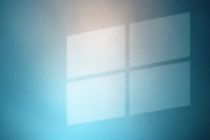 Windows Logo On Wall Wallpaper