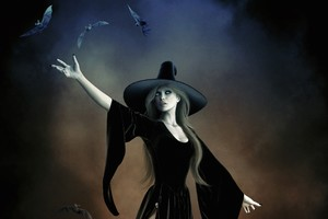 Witch With Hat Black Dress Fantasy Art Wallpaper