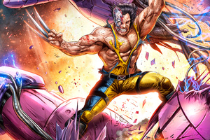 Wolverine Vs Sentinel Artwork 5k Wallpaper