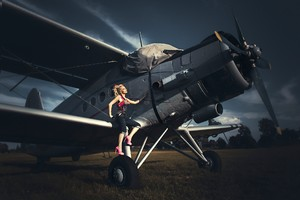 Women With Planes Wallpaper