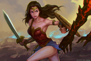 Wonder Woman 5k Digital Art 2018 Wallpaper